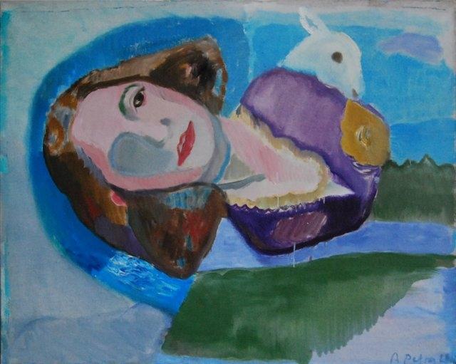 Violetos mama II, 2012, drb.,al., 100x124cm