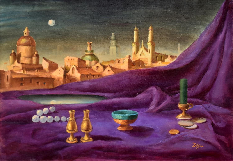 Auksinė naktis, 2005, drobė, aliejus, 116x81cm