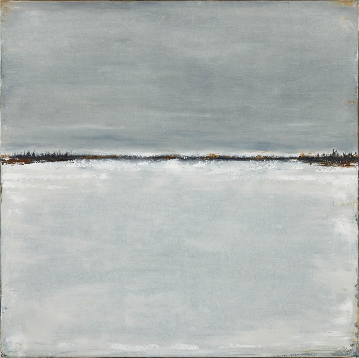 Iš ciklo Žiema Vlll, 2020, drobė, aliejus, 100x100cm