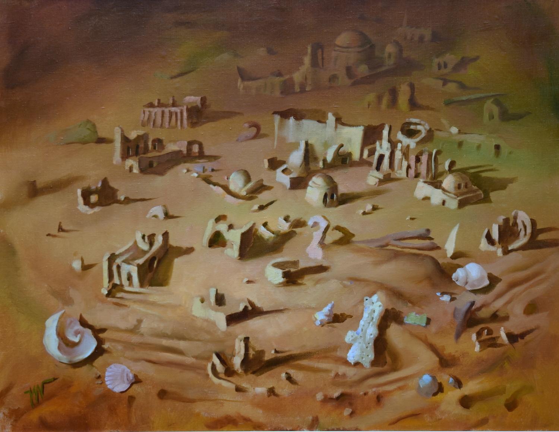 Smėlio miestas, 2012, drobė, aliejus, 81x116cm