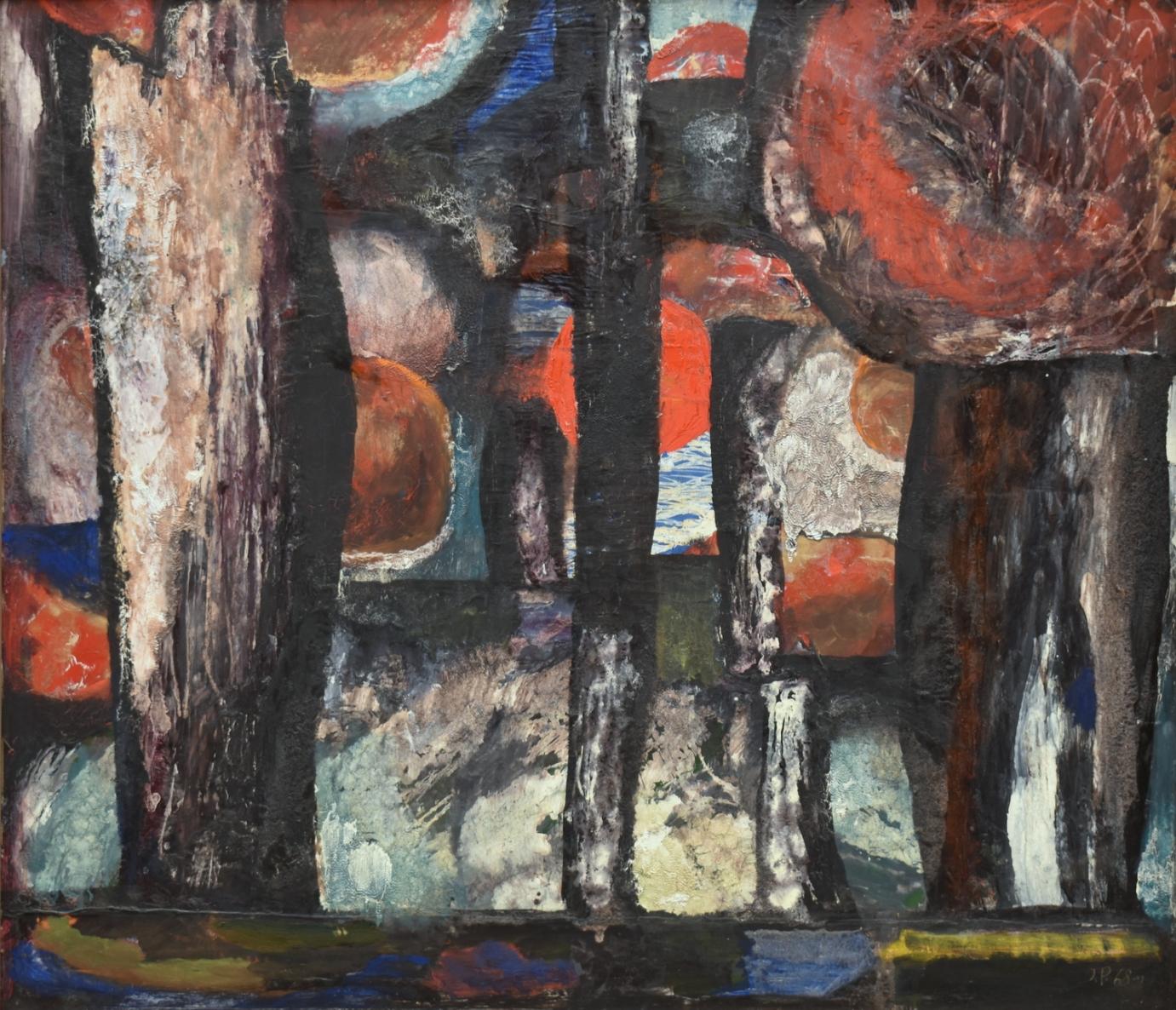 Vakaras, 1968, kartonas, aliejus, emalė, 120x140cm