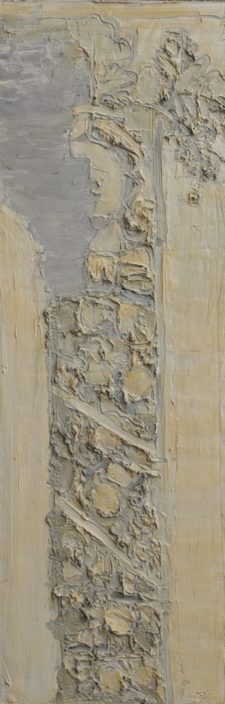 Iš ciklo Vilniaus gatvių reljefai, 2015, drobė, aliejus, 168x55 cm